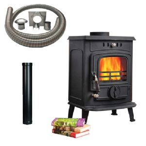 Solo 6 Multifuel Stove with Installation Kit